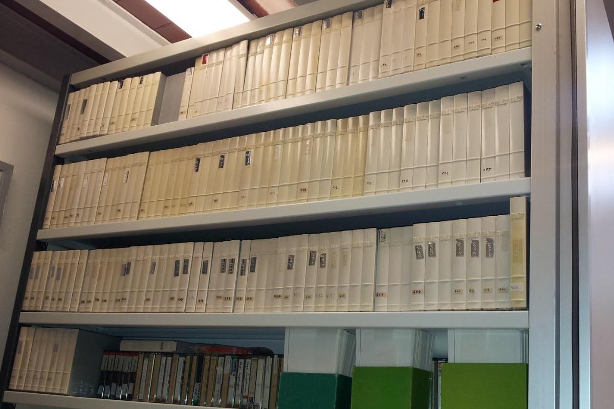 Die Tonbänder des Tierstimmensammlers Hans Lütgens. Foto: Karl-Heinz Frommolt/Museum für Naturkunde Berlin