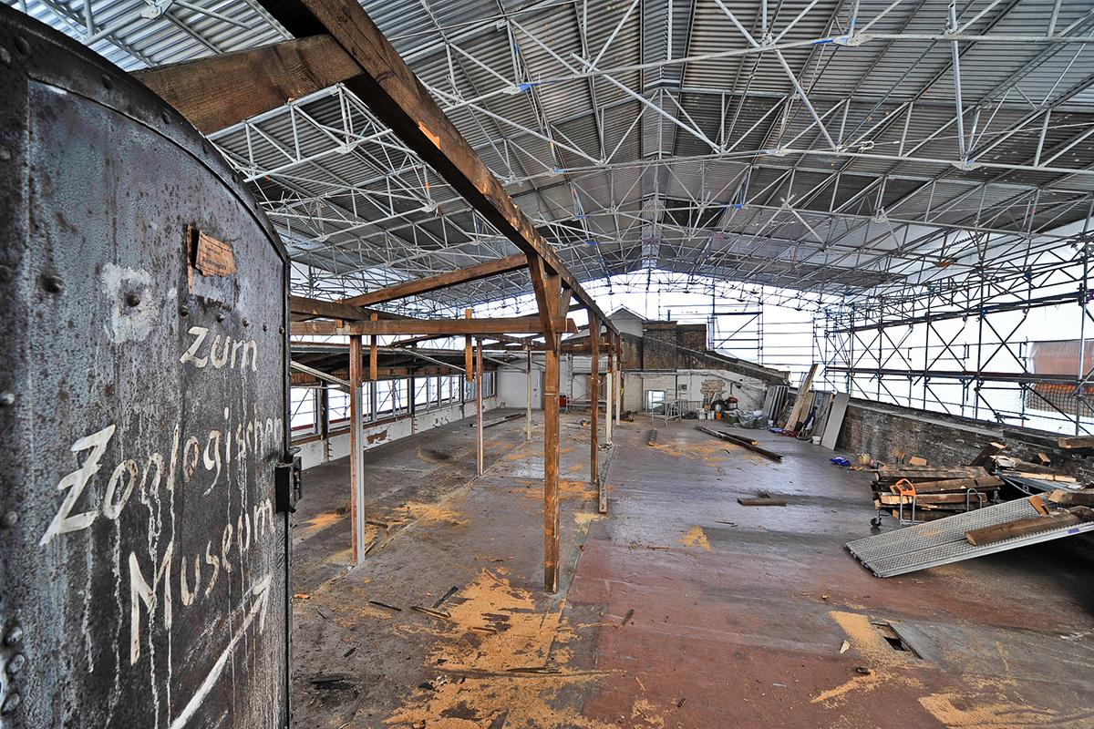 Dachgeschoss des Museums während der Sanierungsmaßnahme