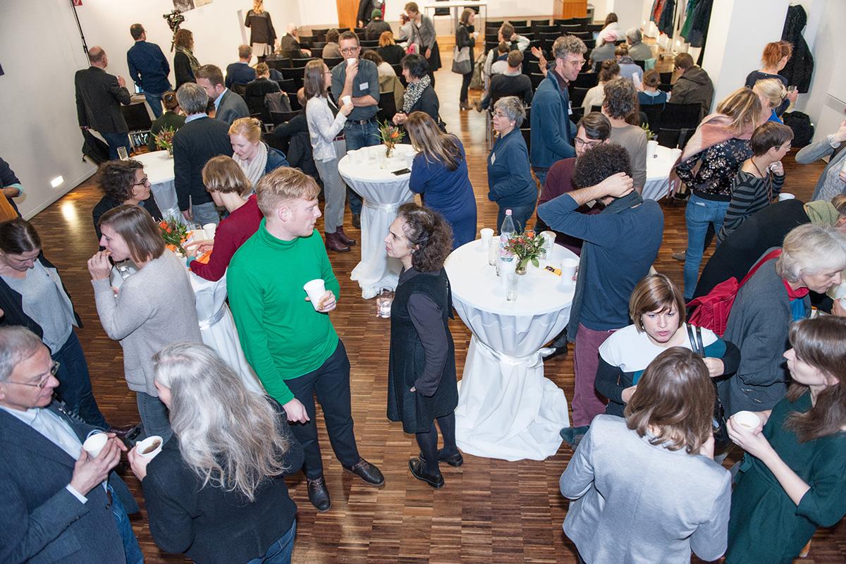 Tagungsteilnehmer im Grimm-Auditorium der Humboldt-Universität