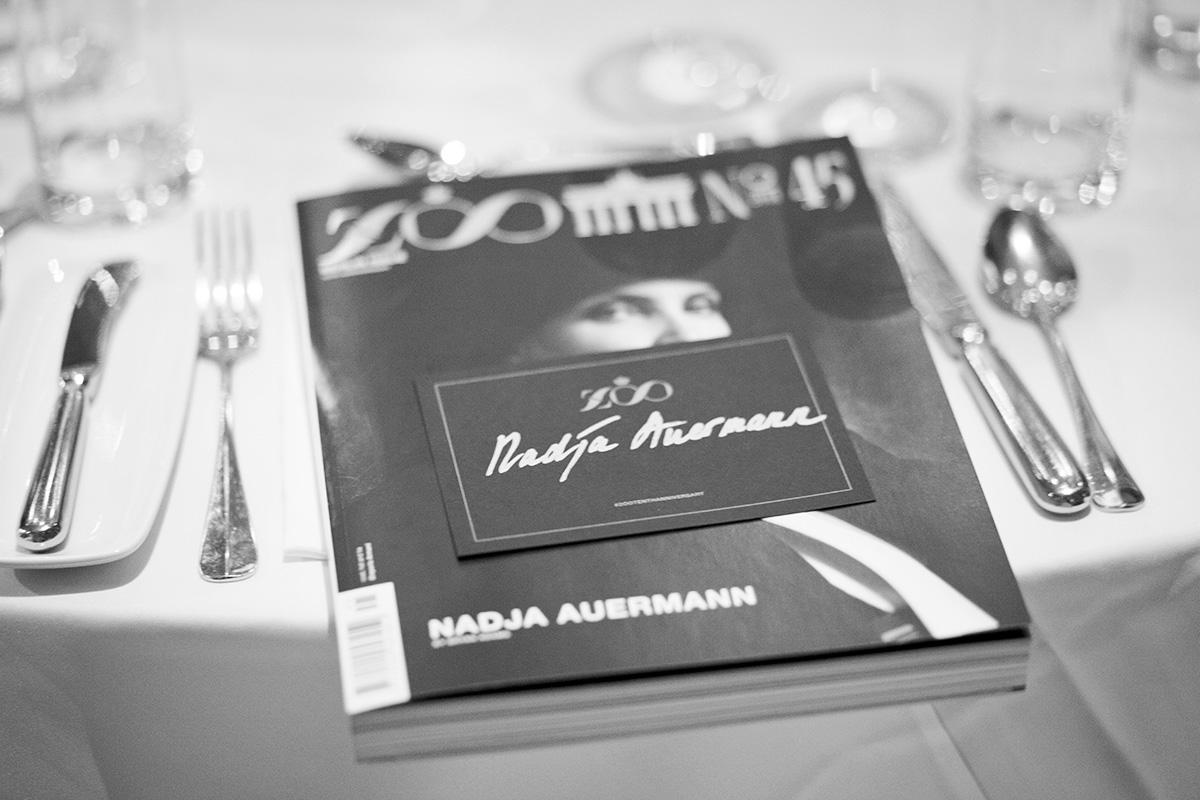 Galadinner für das Zoomagazine im Sauriersaal, Foto: Zoo Magazine/ Philippe Gerlach, launch of tenth anniversary, Berlin issue, www.zoomagazine.com
