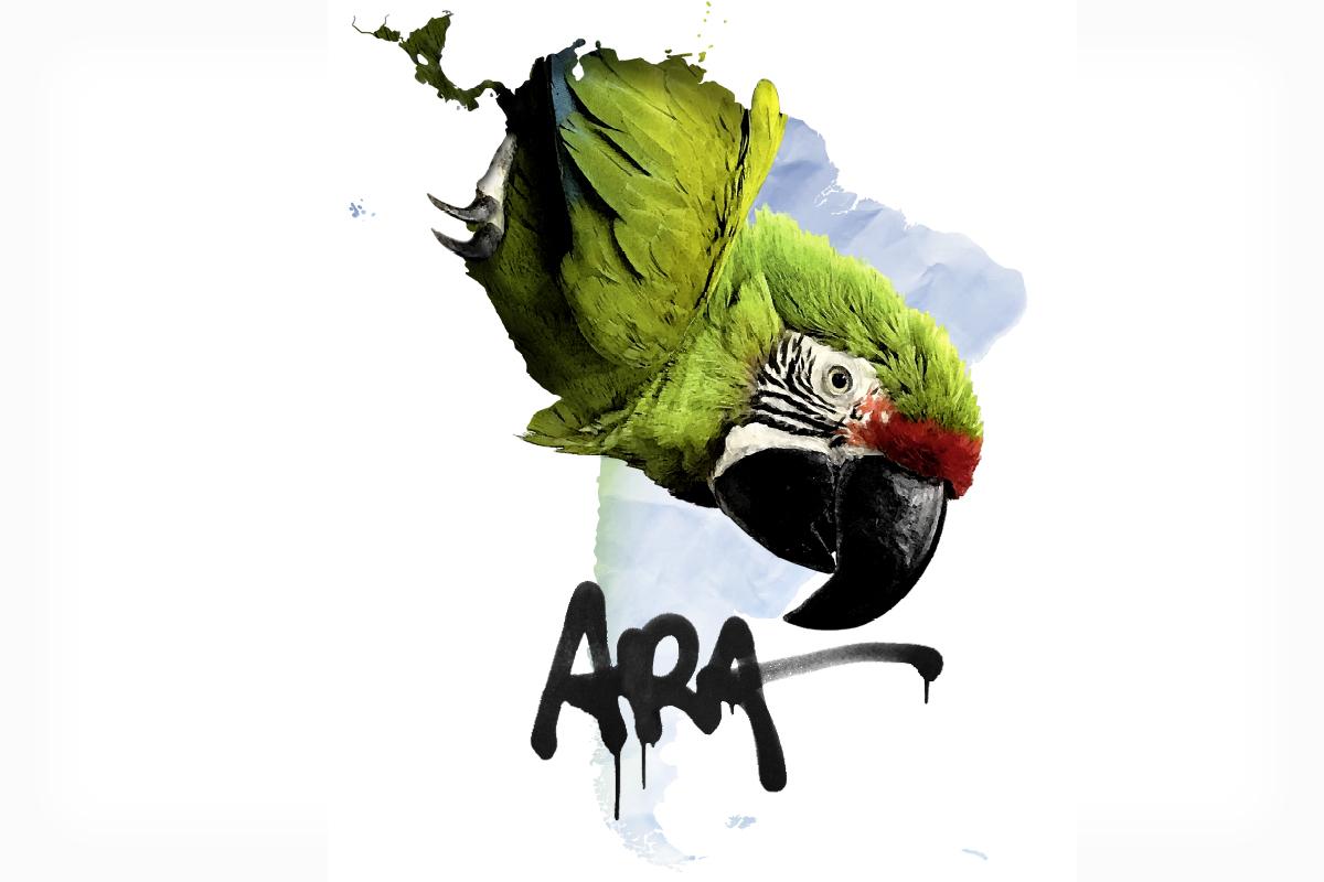 Logo der Sonderausstellung Ara des Museums für Naturkunde Berlin
