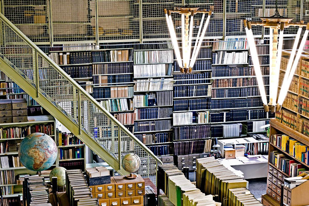 Paläontologische Bibliothek am Museum für Naturkunde, Foto: HwaJa Götz / MfN