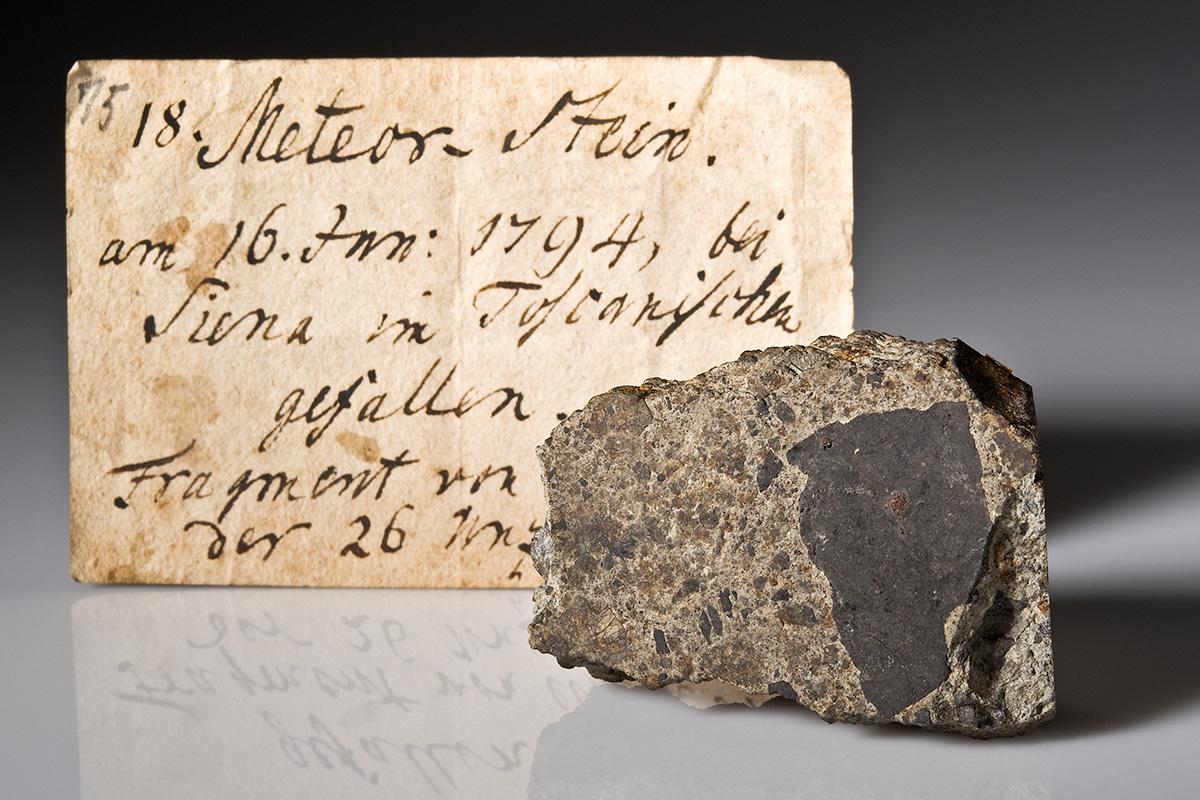 Teil des Steinregens zu Siena am 16. Juni 1794, von Martin H. Klaproth (1743-1817) beschrieben