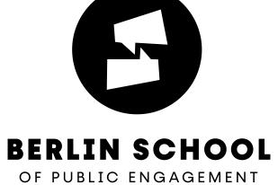 Logo der Berlin School of Public Engagement and Open Science